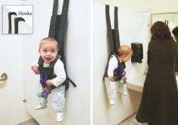 Слинг для подвешивания ребенка на стену «успокоит» самых непоседливых детей