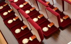 Многодетных матерей наградили в Смоленске почетным знаком