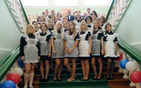 В День знаний губернатор Смоленской области провел урок у рославльских школьников