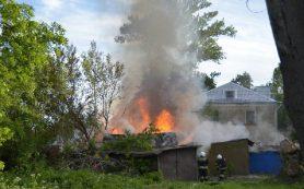 Дети устроили пожар в смоленской деревне
