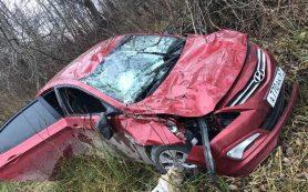 «Иномарка опрокинулась». Женщина и двое маленьких детей пострадали в ДТП в Смоленской области