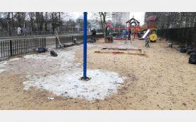 В Смоленске у детского сада собрали почти 100 мешков мусора