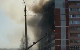 «Малолетние дети остались без мамы». В Смоленской области на видео сняли смертельный пожар