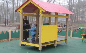В смоленском райцентре открыли детскую площадку